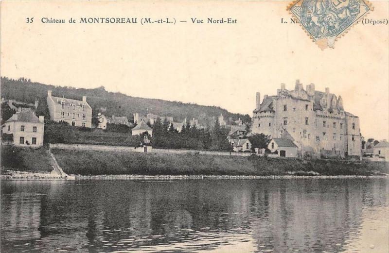 Carte postale ancienne Chateau De Montsoreau Vue Nord Est à Montsoreau