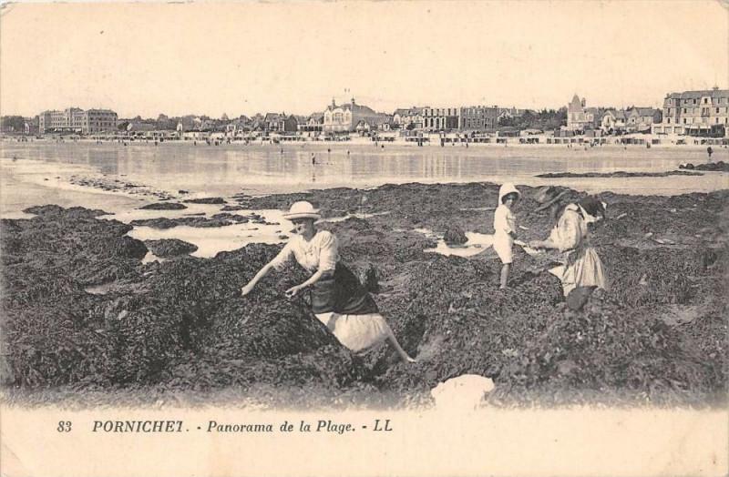 Carte postale ancienne Pornichet Panorama De La Plage à Pornichet