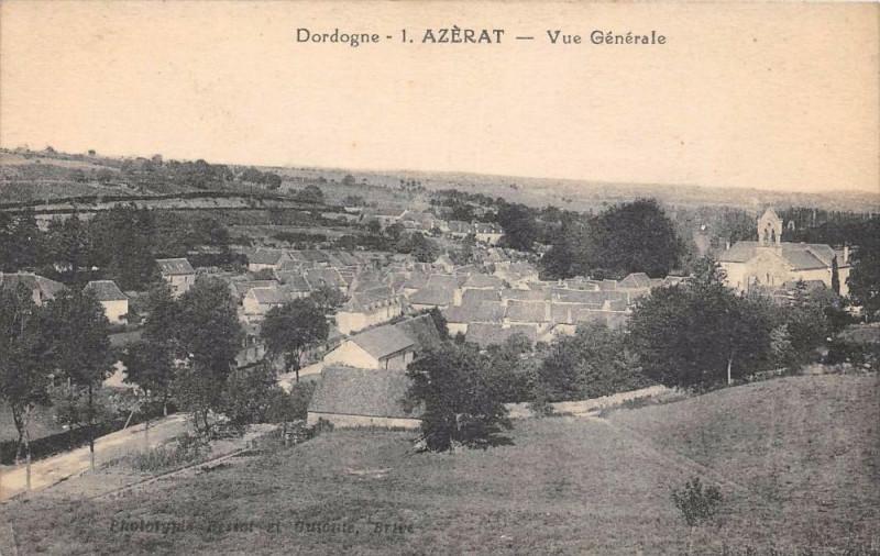 Carte postale ancienne Azerat Vue Generale à Azerat