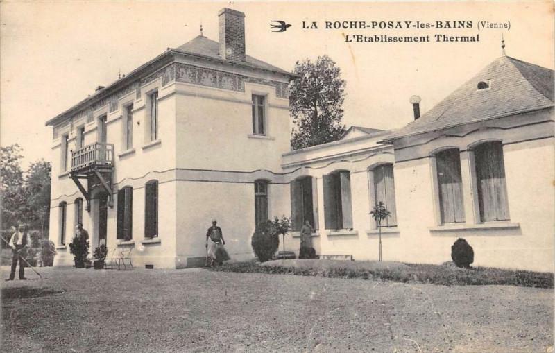 Carte postale ancienne La Roche Posay Etablissement à La Roche-Posay