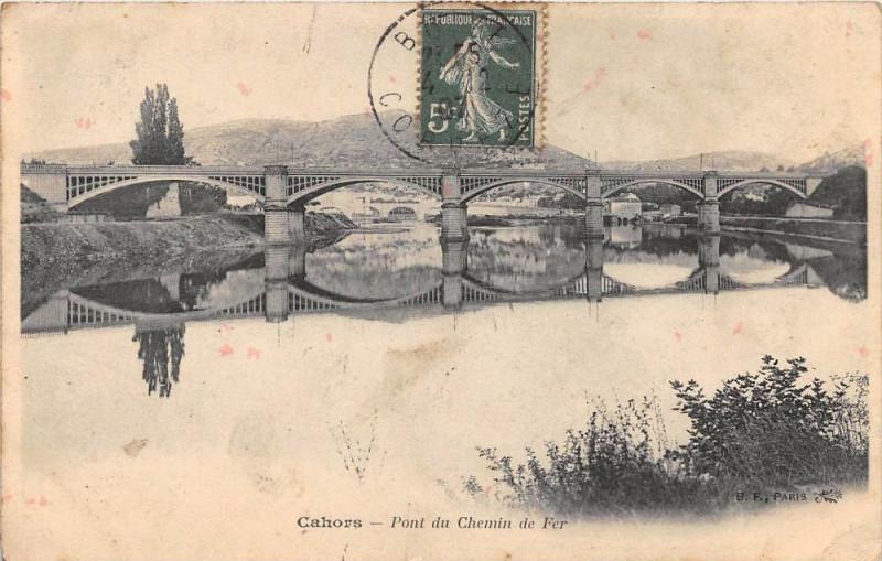 Carte postale ancienne Cahors Pont Du Chemin De Fer à Cahors