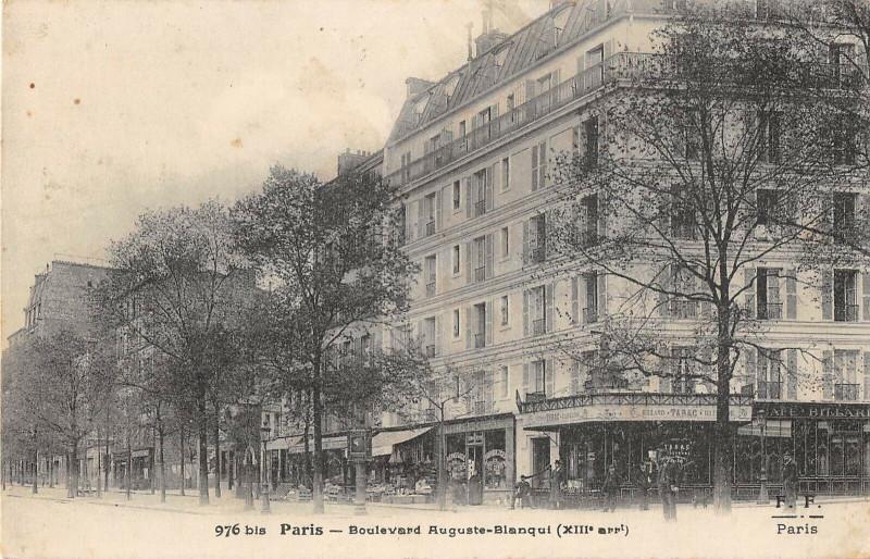 Carte postale ancienne Paris 13e Boulevard Auguste Blanqui à Paris 13e