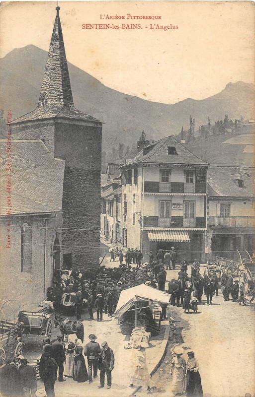 Carte postale ancienne Sentein Les Bains L'Angelus à Sentein