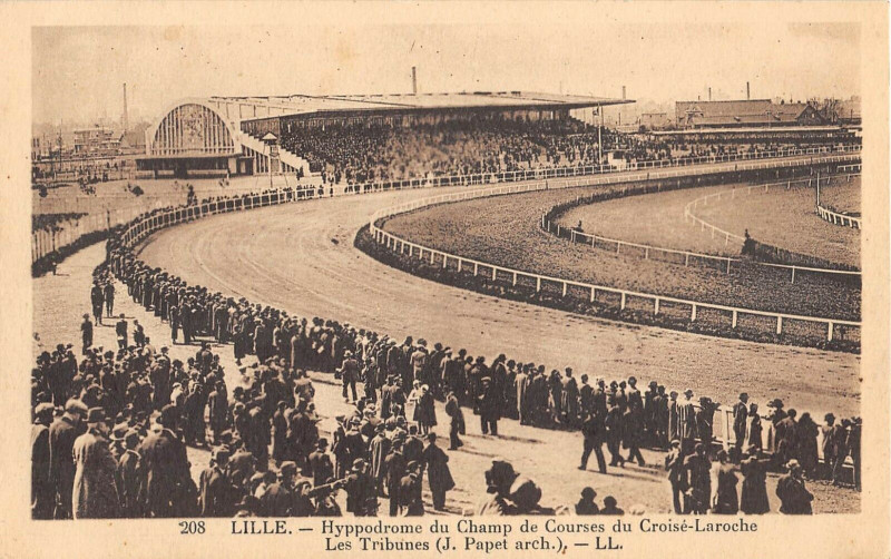 Carte postale ancienne Lille Hyppodrome Du Champ De Courses Du Croise Laroche (rare à Lille