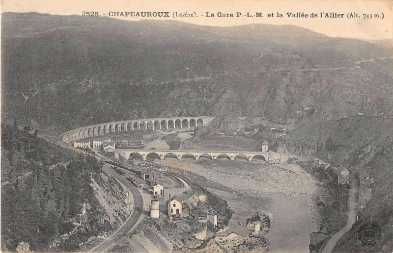 Carte postale ancienne Chapeauroux La Gare P.L.M. à Auroux