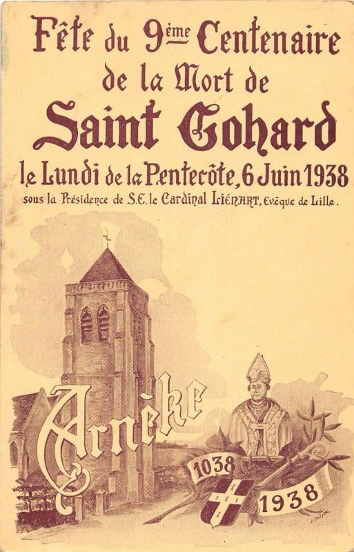Carte postale ancienne Arneke Fete Du 9e Centenaire De La Mort De Saint Gohard (pas courante à Arnèke