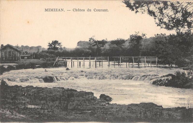 Carte postale ancienne Mimizan Chutes Du Courant à Mimizan