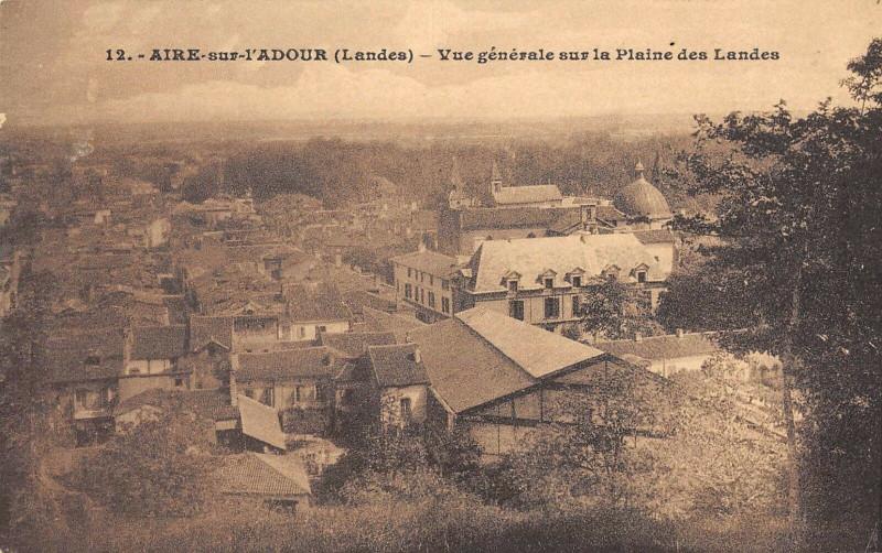 Carte postale ancienne Aire Sur L'Adour Vue Generale Sur La Plaine Des Landes à Aire-sur-l'Adour