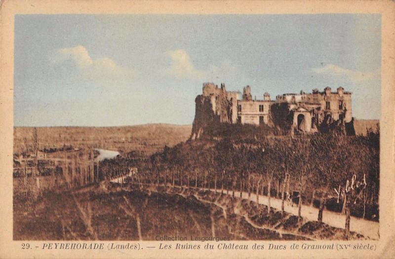 Carte postale ancienne Peyrehorade Les Ruines Du Chateau Des Ducs De Gramont XVe à Peyrehorade