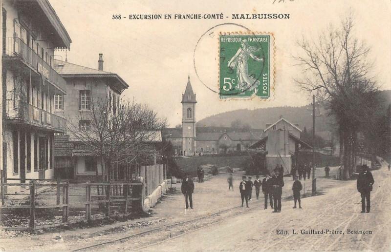 Carte postale ancienne Franche Comte Malbuisson à Malbuisson