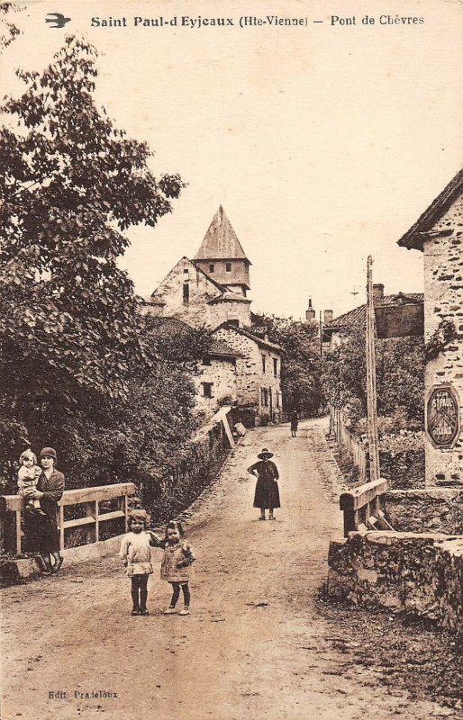 Carte postale ancienne Saint Paul D'Eyjeaux Pont De Chevres à Eyjeaux