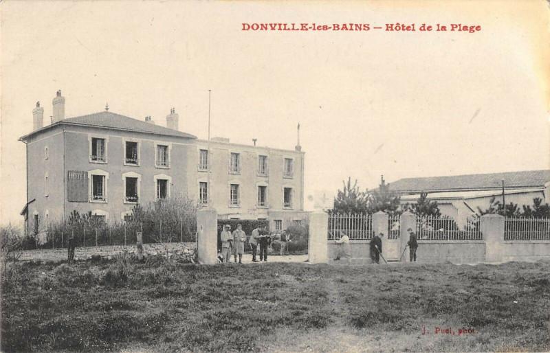 Carte postale ancienne Donville Les Bains Hotel De La Plage à Donville-les-Bains