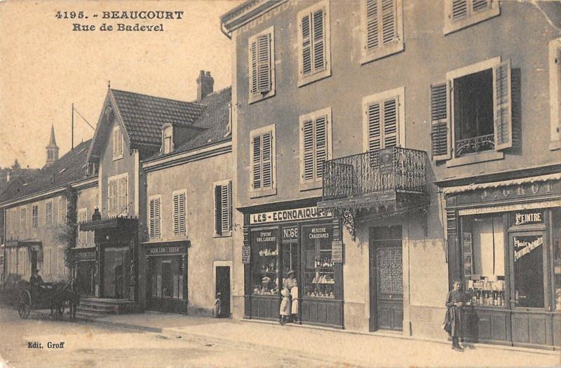 Carte postale ancienne Beaucourt Rue De Badevel à Beaucourt