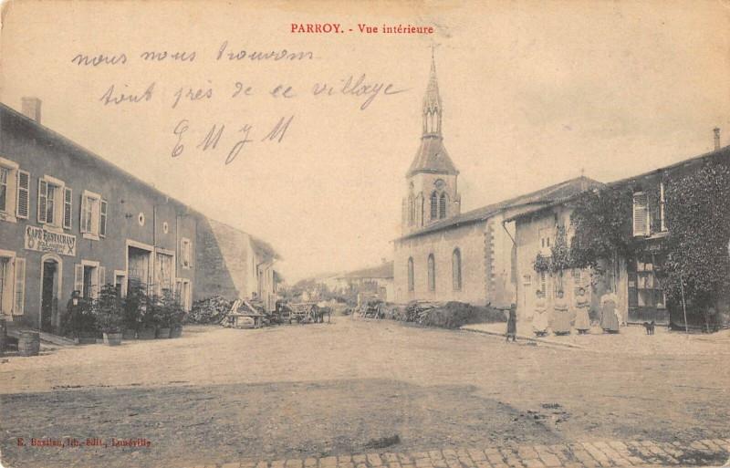 Carte postale ancienne Parroy Vue Interieure à Parroy