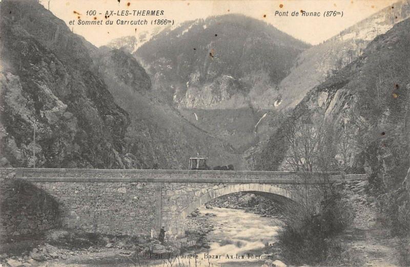 Carte postale ancienne Ax Les Thermes Et Sommet Du Carroutch à Arrout