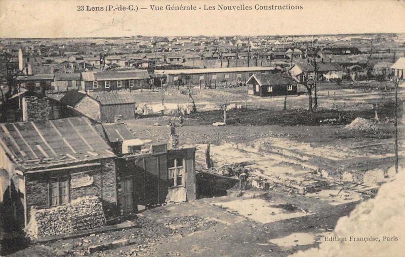 Carte postale ancienne Lens Vue Generale Les Nouvelles Constructions (cliché pas courant à Lens