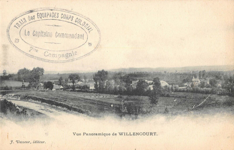 Carte postale ancienne Vue Panoramique De Willencourt à Willencourt