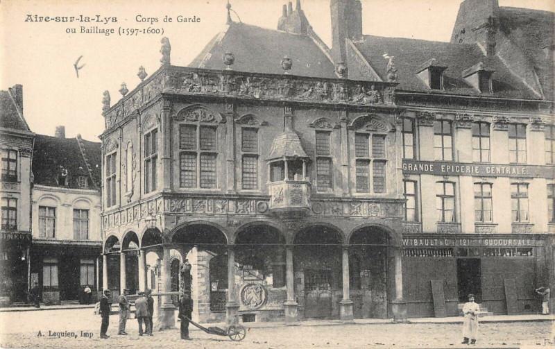 Carte postale ancienne Aire Sur La Lys Corps De Garde à Aire-sur-la-Lys