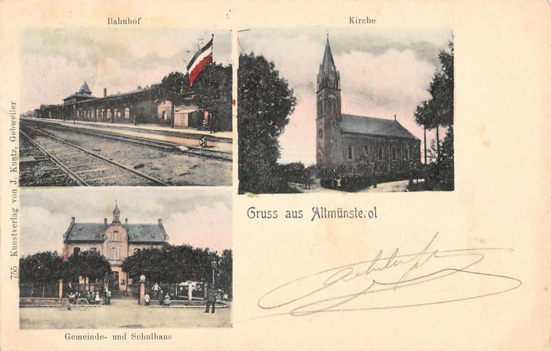 Carte postale ancienne Gruss Aus Altmunsterol (dos non divisé) à Munster
