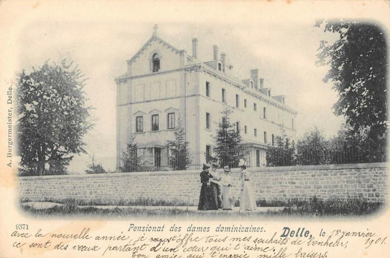 Carte postale ancienne Delle Pensionnat Des Dames Dominicaines à Delle