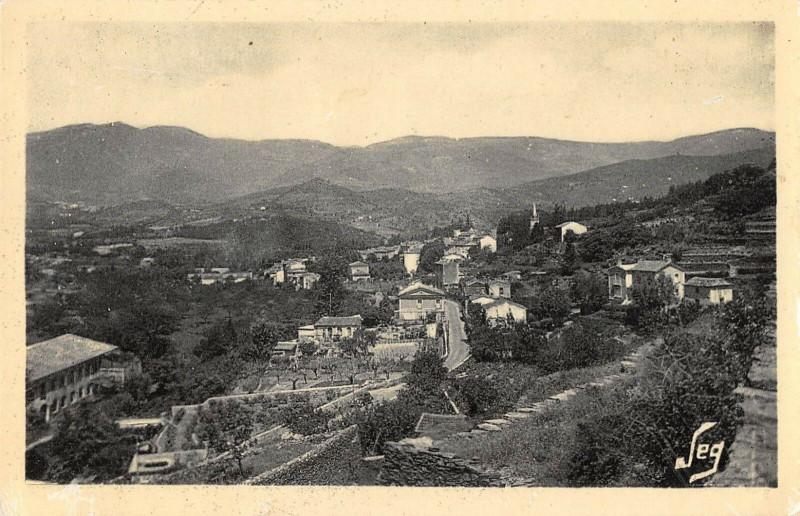 Carte postale ancienne Aveze Vue Generale à Avèze