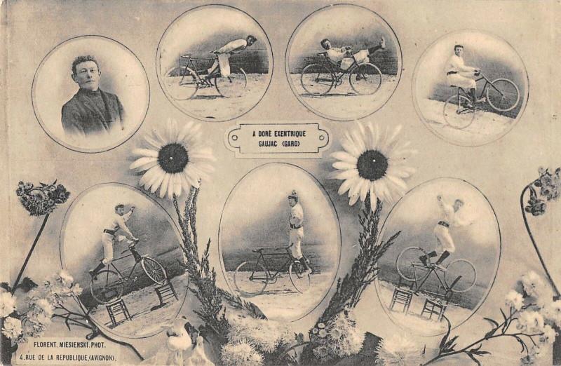 Carte postale ancienne Gaujac A.dore Excentrique Cirque Fete Foraine à Gaujac