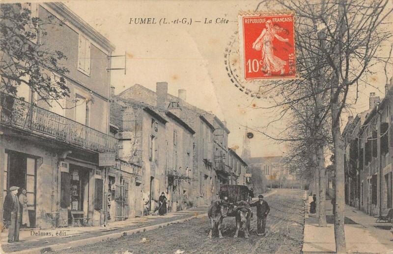 Carte postale ancienne Fumel La Cote à Fumel