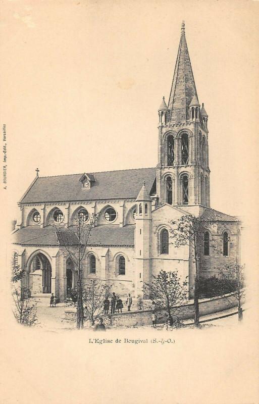 Carte postale ancienne Eglise De Bougival à Bougival