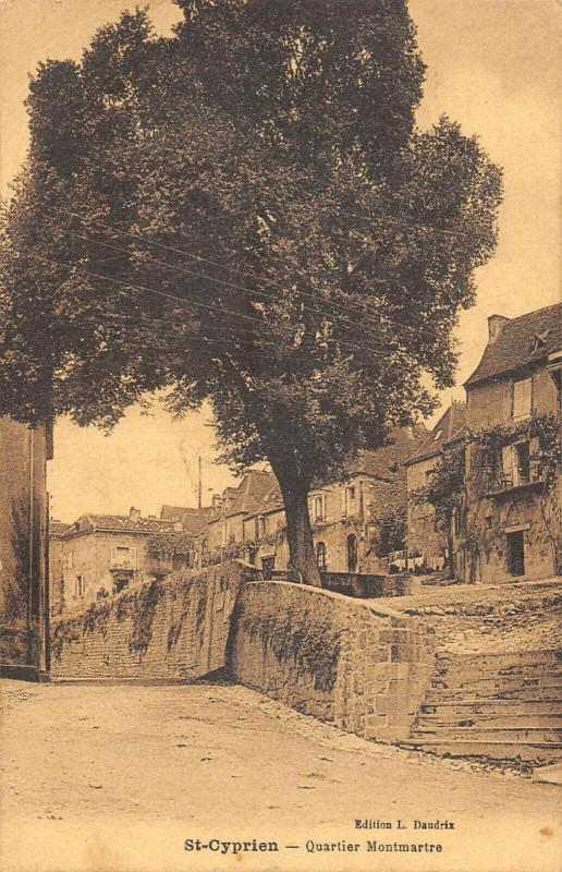 Carte postale ancienne Saint Cyprien Quartier Montmartre (cliché pas courant à Saint-Cyprien