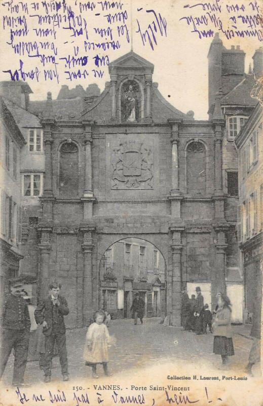 Carte postale ancienne Vannes Porte Saint Vincent à Vannes