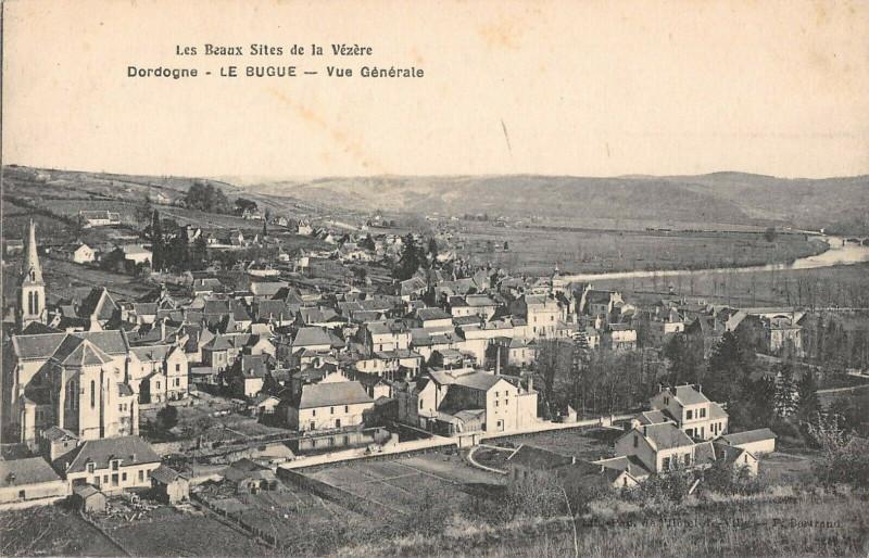 Carte postale ancienne Le Bugue Vue Generale à Le Bugue