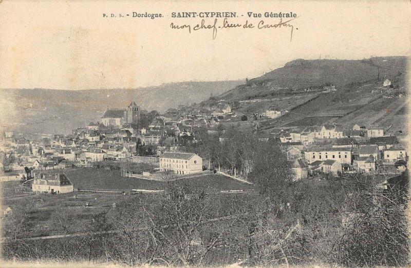 Carte postale ancienne Saint Cyprien Vue Generale à Saint-Cyprien