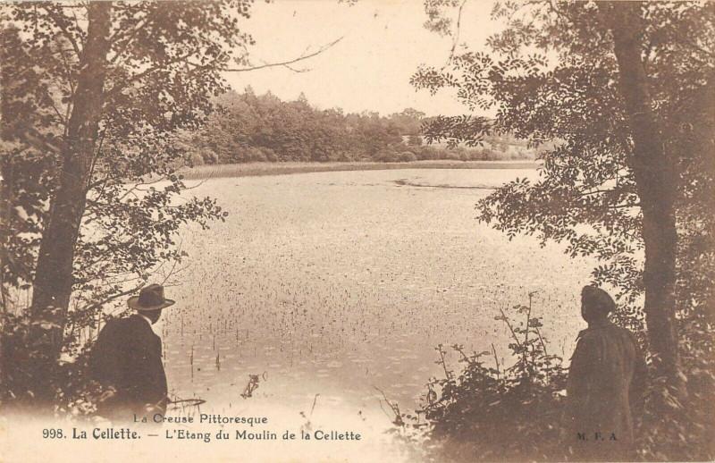 Carte postale ancienne La Cellette L'Etang Du Moulin De La Cellette à La Cellette