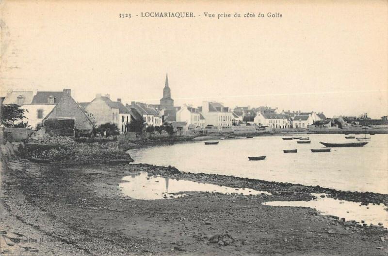 Carte postale ancienne Vue prise du côté du Golfe à Locmariaquer