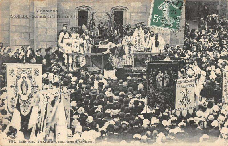 Carte postale ancienne Josselin Souvenir De La Fete Du 8 Septembre à Josselin