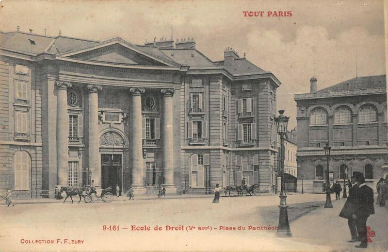 Carte postale ancienne Ecole de Droit - Place du Panthéon à Paris 5e