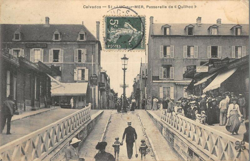 Carte postale ancienne Luc Sur Mer Passerelle De Quilhoc à Luc-sur-Mer