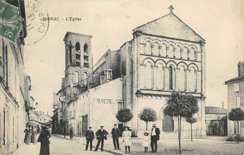 Carte postale ancienne Jarnac Eglise à Jarnac