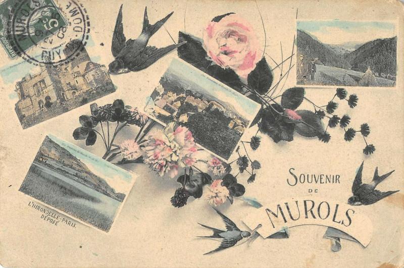 Carte postale ancienne Souvenir De Murols à Murol
