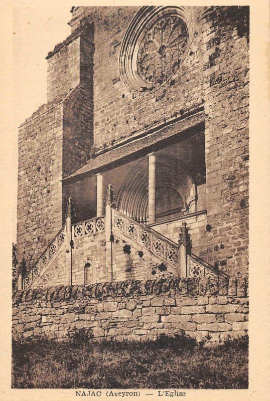 Carte postale ancienne Najac Eglise à Najac