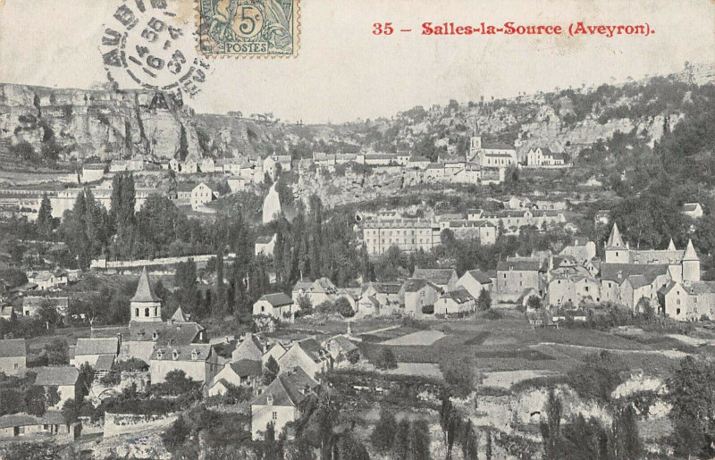Carte postale ancienne Salles La Source Aveyron à Salles-la-Source
