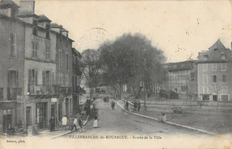 Carte postale ancienne Villefranche De Rouergue Entree De La Ville à Villefranche-de-Rouergue