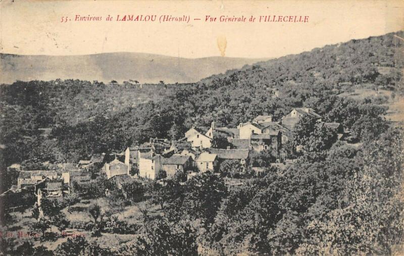 Carte postale ancienne Vue Generale De Villecelle