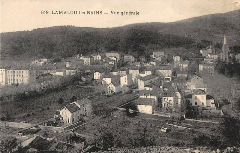 Carte postale ancienne Lamalou Les Bains Vue Generale à Lamalou-les-Bains