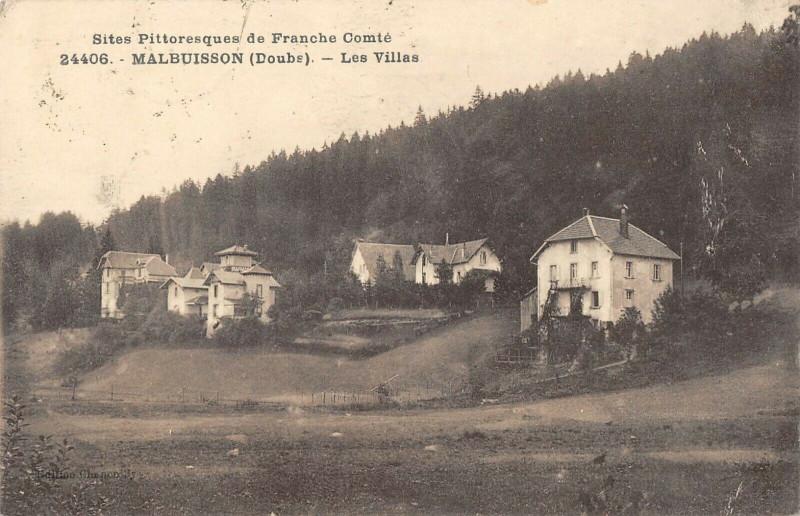 Carte postale ancienne Malbuisson Les Villas à Malbuisson