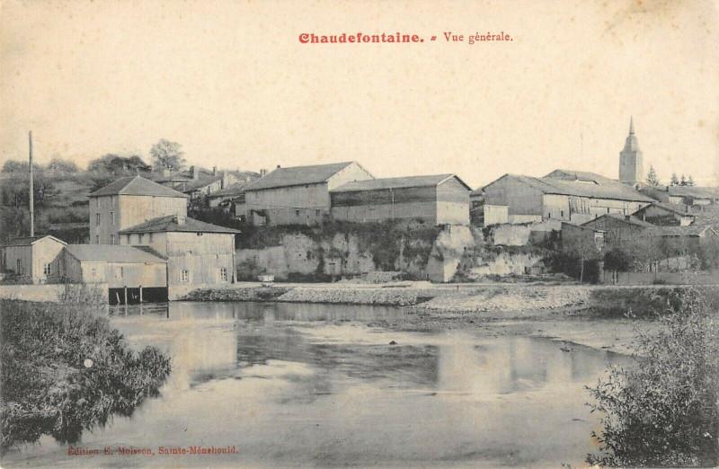 Carte postale ancienne Chaudefontaine Vue Generale à Chaudefontaine