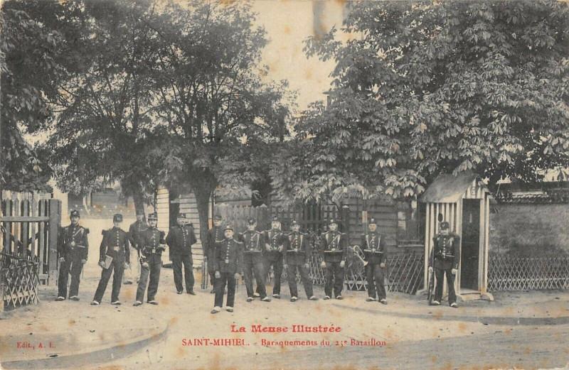 Carte postale ancienne Saint Mihiel Baraquements Du 25e Bataillon à Saint-Mihiel