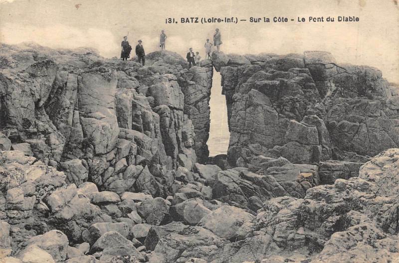 Carte postale ancienne Batz Sur La Cote Pont Du Diable à