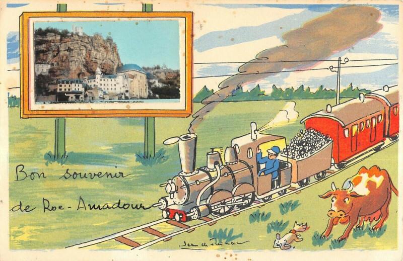 Carte postale ancienne Lot Bon Souvenir De Rocamadour à Rocamadour