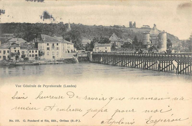 Carte postale ancienne Vue Generale De Peyrehorade à Peyrehorade